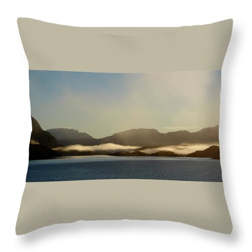 Straits Of Magellan Throw Pillow featuring the photograph Straits Of Magellan Vi by Brett Winn