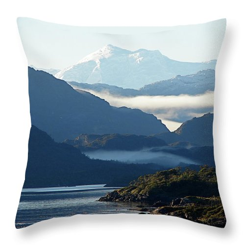 Straits Of Magellan Throw Pillow featuring the photograph Straits Of Magellan Vii by Brett Winn