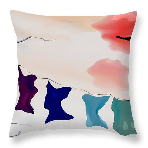 Strange Throw Pillow featuring the digital art Strange Afternoon by Richard Rizzo
