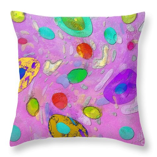 Abstract Throw Pillow featuring the painting Strange Galaxy by Sergey Lukashin
