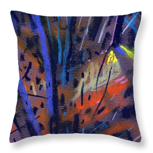 Abstract Throw Pillow featuring the drawing strange Lights by Donald Maier