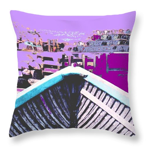 Nova Scotia Throw Pillow featuring the photograph Strange Voyage by Ian MacDonald