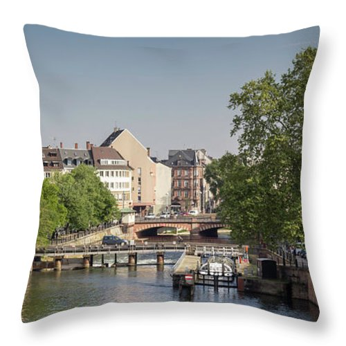 Alsace Throw Pillow featuring the photograph Strasbourg Canal by Teresa Mucha