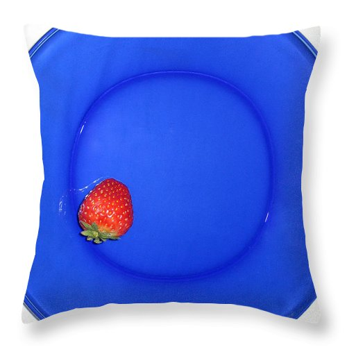 Strawberry Throw Pillow featuring the photograph Strawberry by Jessica Wakefield