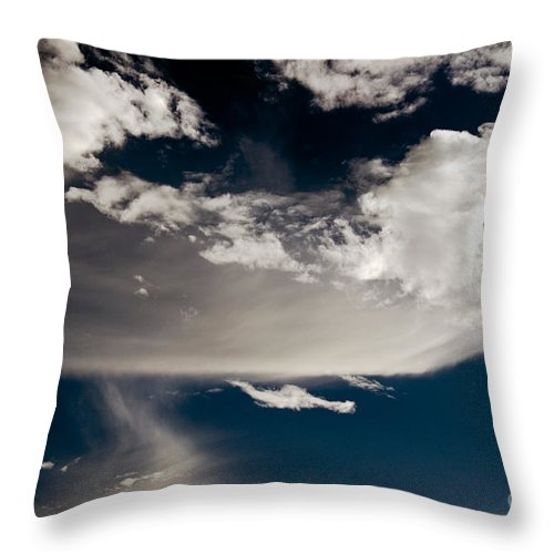 Clay Throw Pillow featuring the photograph Streakin' Cloud by Clayton Bruster