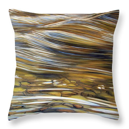 Water Throw Pillow featuring the painting Stream Of Consciousness by Brian Commerford