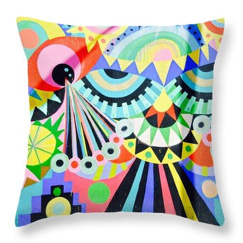 Urban Art Throw Pillow featuring the photograph Street Art by David Coleman