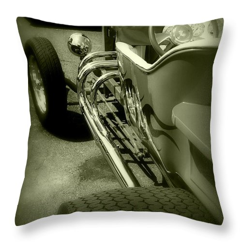 Car Throw Pillow featuring the photograph Street Chrome by Perry Webster