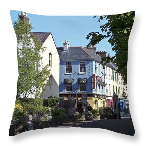 Irish Throw Pillow featuring the photograph Street Corner In Tralee Ireland by Teresa Mucha