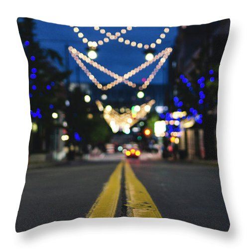 Street Throw Pillow featuring the photograph Street Lights by Tru Escape Media