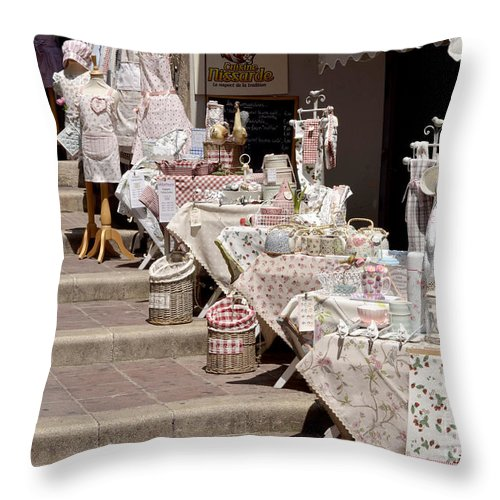 Nice Throw Pillow featuring the digital art Street Of Nice by Leo Symon