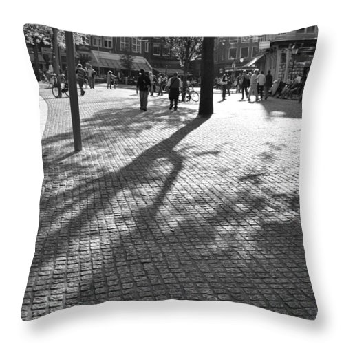 City Throw Pillow featuring the photograph Street Shadows by Noah Cole
