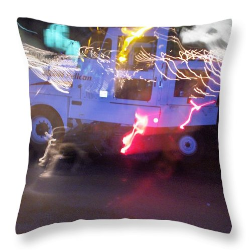 Photograph Throw Pillow featuring the photograph Street Sweeper by Thomas Valentine