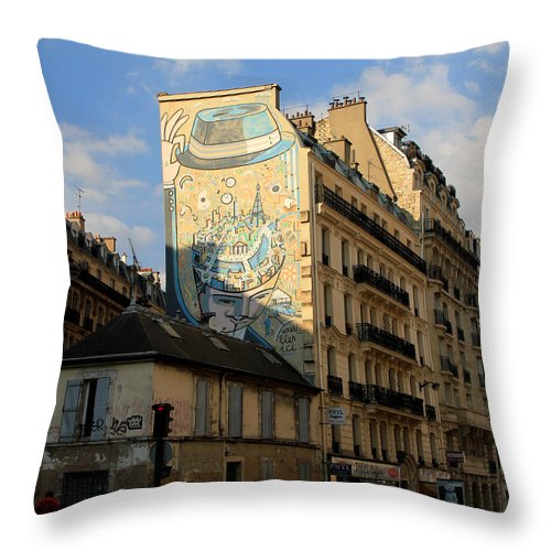 Paris Throw Pillow featuring the photograph Streets Of Paris 6 by Andrew Fare
