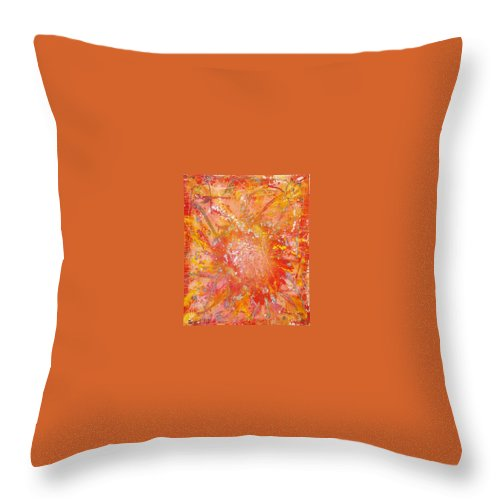 Abstract Throw Pillow featuring the painting Fire by Bill Ades