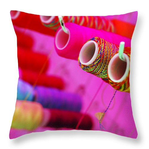 Color Throw Pillow featuring the photograph String Theory by Skip Hunt
