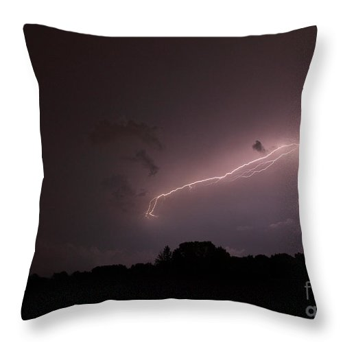 Lightning Throw Pillow featuring the photograph Strong Arm by Amanda Barcon