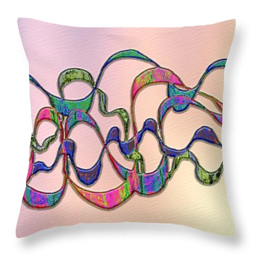 Colorful Throw Pillow featuring the digital art Strong Wind At Sunset by Mark Sellers