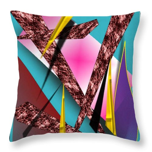 Abstracts Throw Pillow featuring the digital art Structure by Brenda L Spencer