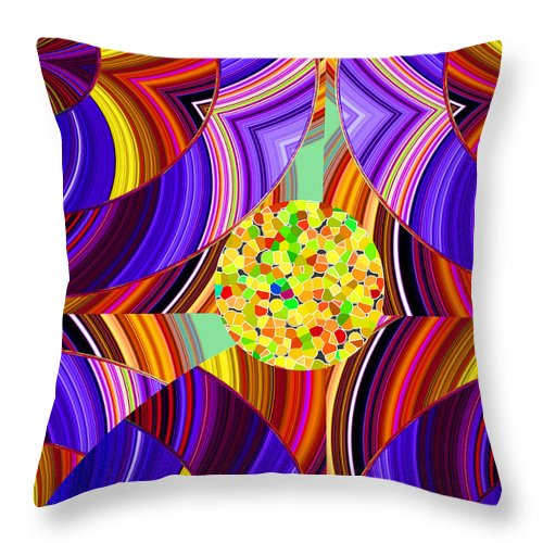 ruth Palmer Throw Pillow featuring the digital art Stuck In The Middle by Ruth Palmer