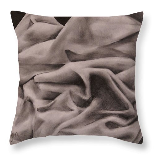 Pencil Drawing Throw Pillow featuring the drawing Study In Balance by Michael Lang