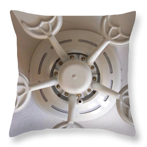 Fan Throw Pillow featuring the photograph Study In Light by Laurie Paci