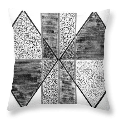 Study Of Texture Line And Materials. Abstract Throw Pillow featuring the drawing Study Of Texture Line And Materials by Peter Piatt