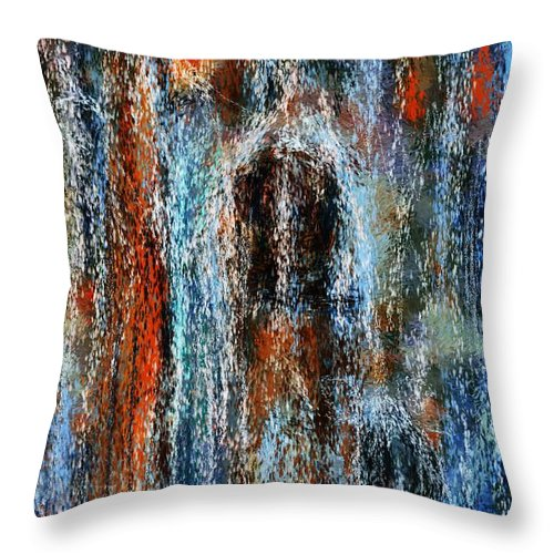 Throw Pillow featuring the digital art Stump Revealed by David Lane
