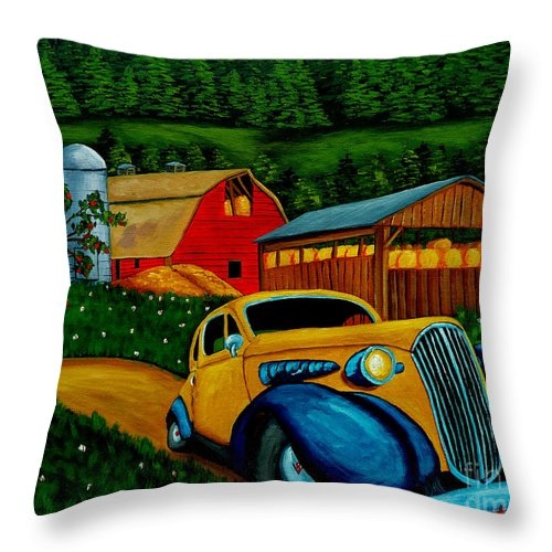 Classic Car Throw Pillow featuring the painting Style And Structure by Anthony Dunphy