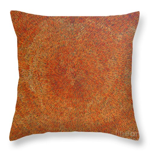 Abstract Throw Pillow featuring the painting Su Gaia Earth by Dean Triolo
