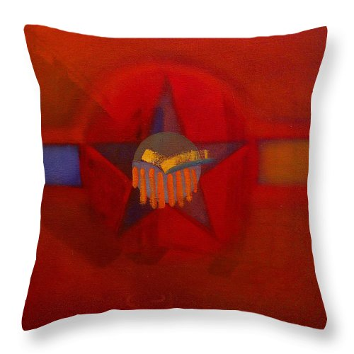 Warm Throw Pillow featuring the painting Sub Decal by Charles Stuart
