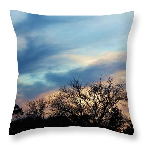 Photo For Sale Throw Pillow featuring the photograph Subdued Sunset by Robert Wilder Jr