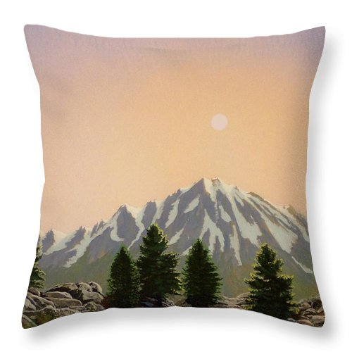 Landscape Throw Pillow featuring the painting Sublime Sierra Light by Frank Wilson