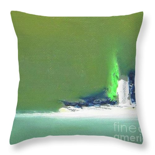 Abstract Throw Pillow featuring the painting Submarine by Vesna Antic