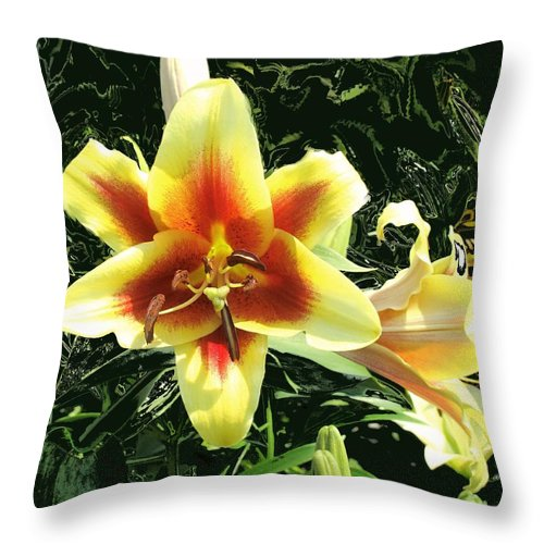 Flower Throw Pillow featuring the photograph Subtle Beauty by Ian MacDonald