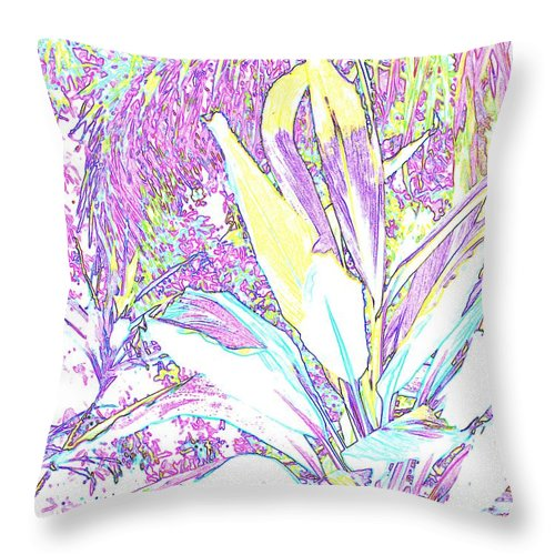 Abstract Throw Pillow featuring the photograph Subtle Leaf by Ian MacDonald