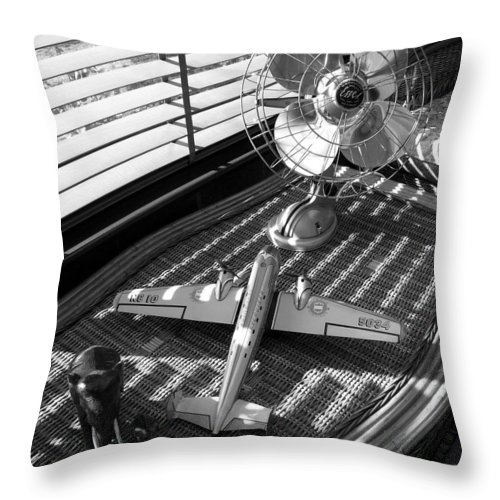 Still Life Throw Pillow featuring the photograph Suburban Runway by Charles Stuart