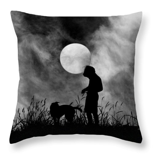 Silhouette Throw Pillow featuring the photograph Suburbia by Hengki Lee