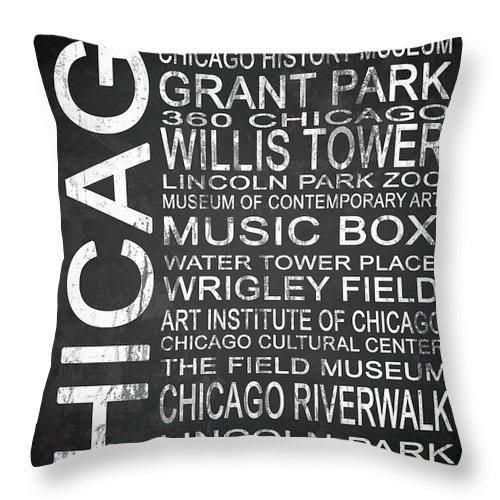 360 Chicago Throw Pillow featuring the digital art Subway Chicago 1 by Melissa Smith