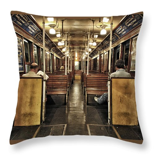 Subway Throw Pillow featuring the photograph Subway by Hans Wolfgang Muller Leg