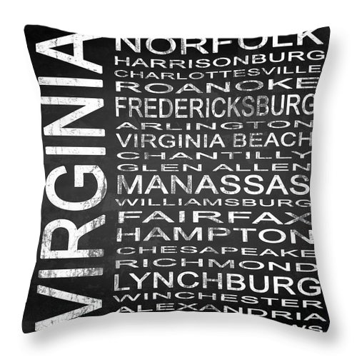 Subway Sign Throw Pillow featuring the digital art Subway Virginia State Square by Melissa Smith