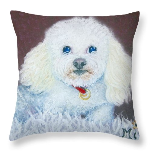 Dog Throw Pillow featuring the painting Such A Charm by Minaz Jantz