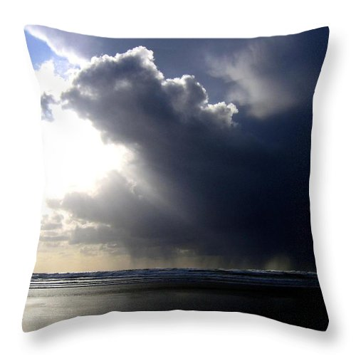 Squall Throw Pillow featuring the photograph Sudden Squall by Will Borden