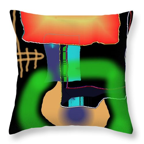Mouse Throw Pillow featuring the digital art Suddenclicks by Helmut Rottler
