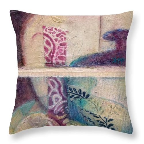 Vessel Throw Pillow featuring the painting Suffusion by Kerryn Madsen-Pietsch