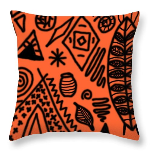 Orange Throw Pillow featuring the digital art Suitability by Christopher Rowlands