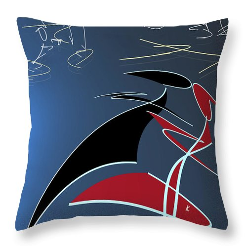 Abstract Throw Pillow featuring the digital art Sultans Of Swing by John Krakora