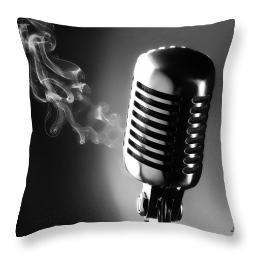 Black & White Throw Pillow featuring the photograph Sultry Black And White by Sheri Bartoszek