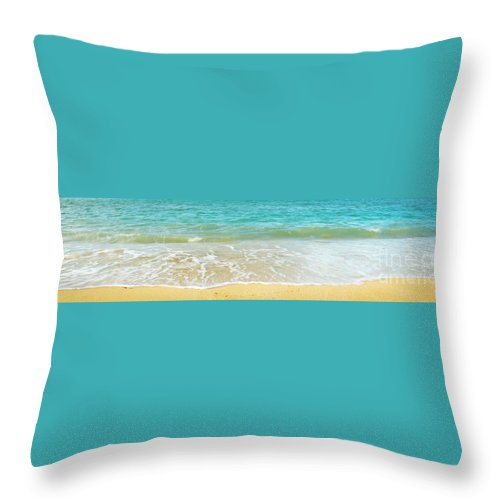 Beach Throw Pillow featuring the photograph Summer Beach Background by Tim Hester