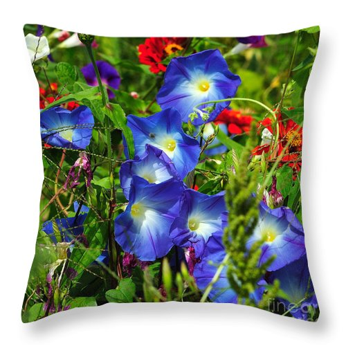 Flowers Throw Pillow featuring the photograph Summer Bouquet by Edward Sobuta